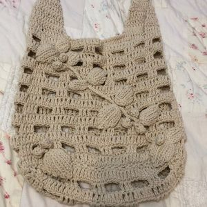 Urban outfitters crochet knit bag purse